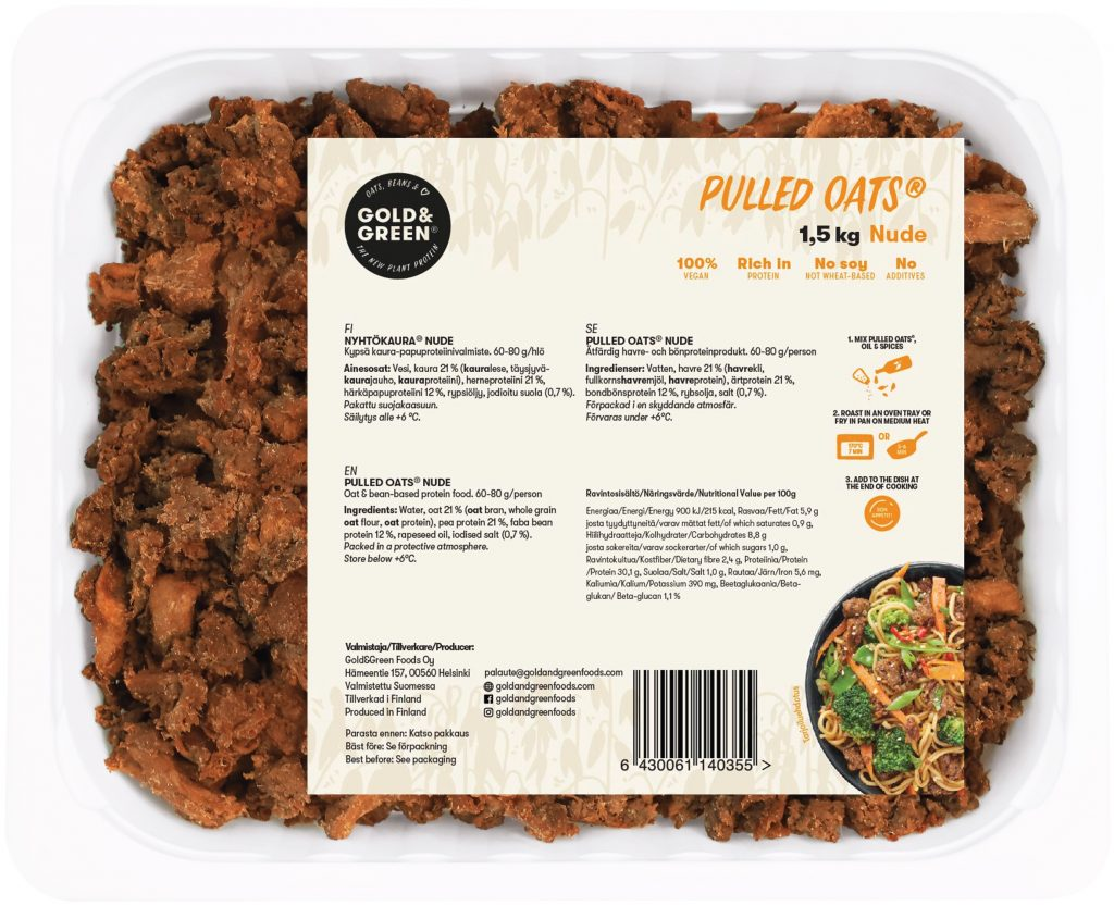 Pulled Oats Nude FS Chilled 1,5 kg